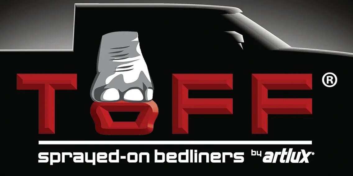 toff sprayed on bedliner logo