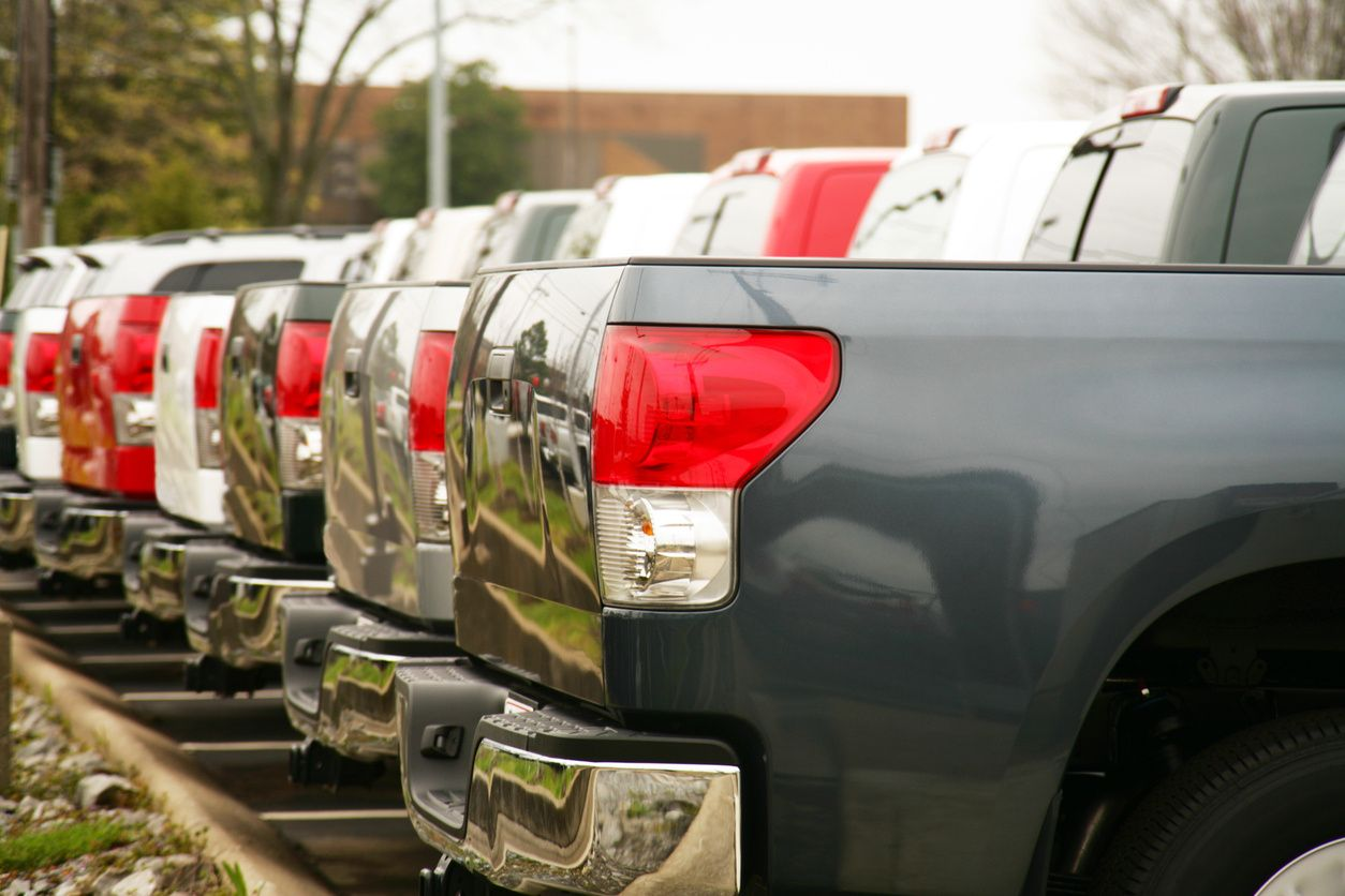line of truck beds